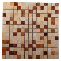 Splashback Tile Sparrow Blend 12 in. x 12 in. x 8 mm Mosaic Floor and Wall Tile
