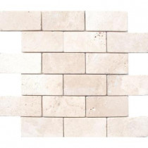 MS International Bologna Chiaro 3 in. x 6 in. Tumbled Travertine Floor and Wall Tile (1 sq. ft. / case)