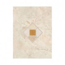 Daltile Brancacci Aria Ivory 9 in. x 12 in. Ceramic Accent Tile-DISCONTINUED