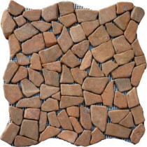 MS International Tan Flat Pebbles 16 in. x 16 in. Marble Floor & Wall Tile-DISCONTINUED