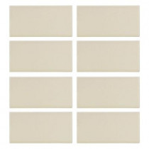 Jeffrey Court Almond Truffle Matte 3 in. x 6 in. Ceramic Wall Tile (8 pieces/1 sq. ft./1 pack)