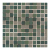 Daltile Maracas Everglades Blend 12 in. x 12 in. 8mm Frosted Glass Mesh Mount Mosaic Wall Tile (10 sq. ft. / case)-DISCONTINUED