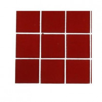 Splashback Tile Contempo Lipstick Red Frosted Glass Tile Sample