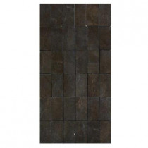 U.S. Ceramic Tile Avila 12 in. x 24 in. Marron Porcelain Mosaic Tile-DISCONTINUED