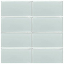 Jeffrey Court Morning Mist 3 in. x 6 in. Glass Wall Tile (1pk /8pcs / 4.1 lb.)