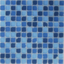 Epoch Architectural Surfaces Oceanz Southern Tumbled Matte Glass Mesh Mounted Floor and Wall Tile - 3 in. x 3 in. Tile Sample