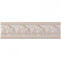 U.S. Ceramic Tile Fresno 2-3/4 in. x 10 in. Blanco Ceramic Selma Listel Wall Tile-DISCONTINUED