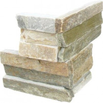 MS International Golden Honey Ledger Corner 6 in. x 6 in. x 6 in. Natural Quartzite Wall Tile (6 sq. ft. / case)