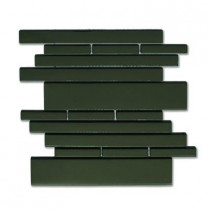 Solistone Piano Glass Melody 9-1/2 in. x 10-1/2 in. Black Mesh-Mounted Mosaic Wall Tile (6.92 sq.ft./case)