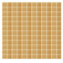 Epoch Architectural Surfaces Spongez S-Light Brown-1409 Mosiac Recycled Glass Mesh Mounted Floor and Wall Tile -3 in. x 3 in. Tile Sample