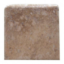 U.S. Ceramic Tile Tuscany Desert 3 in. x 3 in. Glazed Ceramic Single Bullnose Corner Wall Tile-DISCONTINUED
