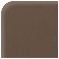 Daltile Modern Dimensions Matte Artisan Brown 4-1/4 in. x 4-1/4 in. Ceramic Bullnose Corner Wall Tile