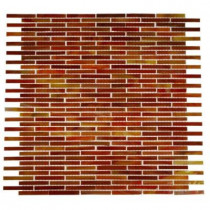 Splashback Tile Glass 12 in. x 12 in. x 8 mm Mosaic Floor and Wall Tile