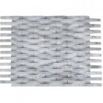 Splashback Tile 3D Reflex White Carrera 11.5 in. x 9 in. x 8 mm Wall Tile