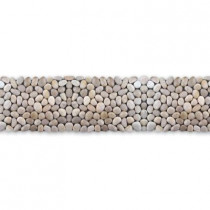 Solistone Anatolia White Onyx 4 in. x 39 in. x 12.7 mm Natural Stone Pebble Border Mesh-Mounted Mosaic Tile (9.75 sq. ft./case)