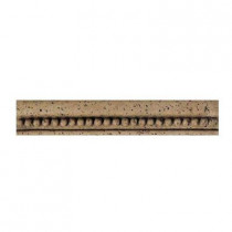 Daltile Fashion Accents Noce Bead 2-1/4 in. x 13 in. Travertine Chair Rail Wall Tile
