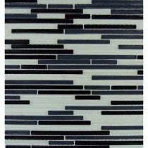 MS International Black & White Bamboo 12 in. x 12 in. x 8 mm Glass Mesh-Mounted Mosaic Tile