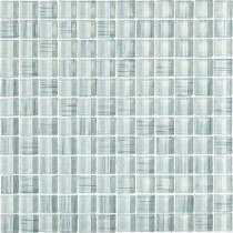 EPOCH Brushstrokes Bianco-1506 Mosaic Glass Mesh Mounted Tile - 4 in. x 4 in. Tile Sample-DISCONTINUED