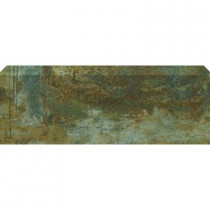 U.S. Ceramic Tile Argos 3-3/4 in. x 13 in. Titanium Ceramic Bullnose Floor and Wall Tile-DISCONTINUED