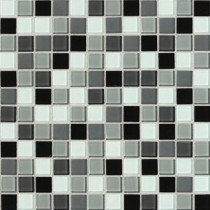 Daltile Isis Pewter Blend 12 in. x 12 in. x 3 mm Glass Mesh-Mounted Mosaic Wall Tile