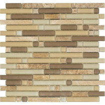 Epoch Architectural Surfaces Varietals Sylvaner-1654 Stone And Glass Blend Mesh Mounted Floor and Wall Tile - 2 in. x 12 in. Tile Sample