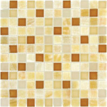 MS International Honey Onyx Caramel 12 in. x 12 in. x 8 mm Glass Stone Mesh-Mounted Mosaic Tile