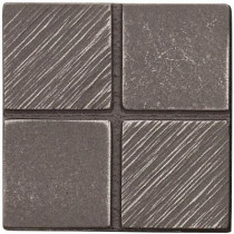 Weybridge 2 in. x 2 in. Cast Metal Mosaic Dot Brushed Nickel Tile (10 pieces / case) - Discontinued