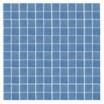 EPOCH Oceanz O-Blue-1721 Mosaic Recycled Glass Anti Slip 12 in. x 12 in. Mesh Mounted Floor & Wall Tile (5 sq. ft.)
