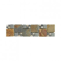 Jeffrey Court Ancient Tide 3 in. x 12 in. x 8 mm Slate Strip Accent Trim