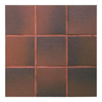 Daltile Quarry Red Flash 6 in. x 6 in. Ceramic Floor and Wall Tile (11 sq. ft. / case)