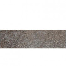 Daltile Metal Effects Brilliant Bronze 3 in. x 13 in. Porcelain Surface Bullnose Floor and Wall Tile-DISCONTINUED