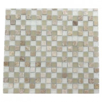 Splashback Tile Champs-Elysee Blend 12 in. x 12 in. x 8 mm Glass Mosaic Floor and Wall Tile