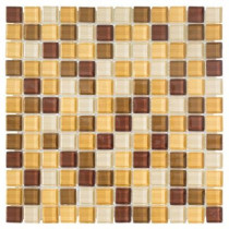 Jeffrey Court Milano Russo Medley 12 in. x 12 in. x 8 mm Glass Mosaic Wall Tile