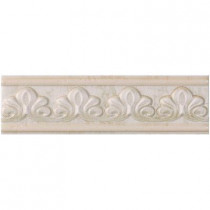 U.S. Ceramic Tile Fresno 2-3/4 in. x 10 in. Verdigris Ceramic Selma Listel Wall Tile-DISCONTINUED