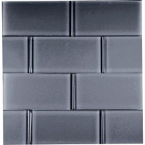 Epoch Architectural Surfaces Dancez Watusi-1443 Glass Subway Tile - 3 in. x 6 in. Tile Sample-DISCONTINUED