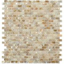 Splashback Tile Baroque Pearls Mini Brick 12 in. x 12 in. Mosaic Floor and Wall Tile