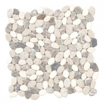 Jeffrey Court River Rock Medley 12 in. x 12 in. x 8 mm Travertine Mosaic Floor/Wall Tile
