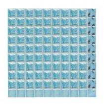 Daltile Sonterra Glass Light Blue Iridescent 12 in. x 12 in. x 6mm Glass Mosaic Wall Tile (10 sq. ft. / case)-DISCONTINUED