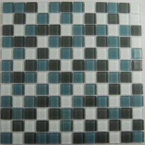 EPOCH Cloudz Altostratus-1430 Mosaic Glass Mesh Mounted Tile - 3 in. x 3 in. Tile Sample