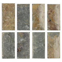 Jeffrey Court Tumbled Slate 3 in. x 6 in. x 8 mm Floor and Wall Tile (8 pieces/1 sq. ft./1 pack)