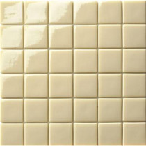 Elementz 12.5 in. x 12.5 in. Capri Crema Glossy Glass Tile-DISCONTINUED