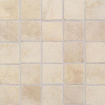 Daltile Portenza Avorio Antico 13-3/4 in. x 13-3/4 in. x 8mm Porcelain Mosaic Floor Tile (13.13 sq. ft. / case)-DISCONTINUED