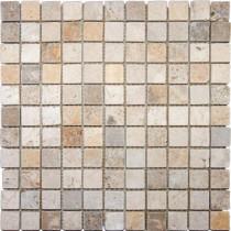 MS International Mixed 12 in. x 12 in. x 10 mm Tumbled Travertine Mesh-Mounted Mosaic Tile