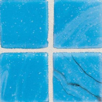 Daltile Sonterra Glass Cancun Blue 12 in. x 12 in. x 6 mm Glass Sheet Mounted Mosaic Wall Tile