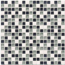 Jeffrey Court Classic Check 12 in. x 12 in. x 8 mm Glass Marble Mosaic Wall Tile