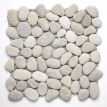 Solistone River Rock Brookstone 12 in. x 12 in. x 12.7 mm Natural Stone Pebble Mosaic Floor and Wall Tile (10 sq. ft./case)