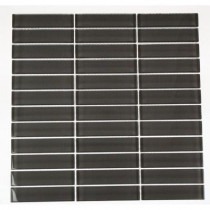 Splashback Tile Contempo Smoke Gray Polished 12 in. x 12 in. X 8 mm Glass Mosaic Floor and Wall Tile
