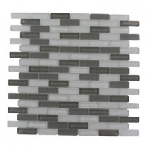 Splashback Tile Contempo Brooklyn Blend 12 in. x 12 in. x 8 mm Glass Mosaic Floor and Wall Tile