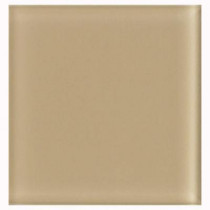 U.S. Ceramic Tile 2 in. x 2 in. Beige Glass Insert Wall Tile