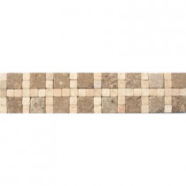 MS International Cornerless Travertine Border 3 in. x 12 in. Floor and Wall Tile